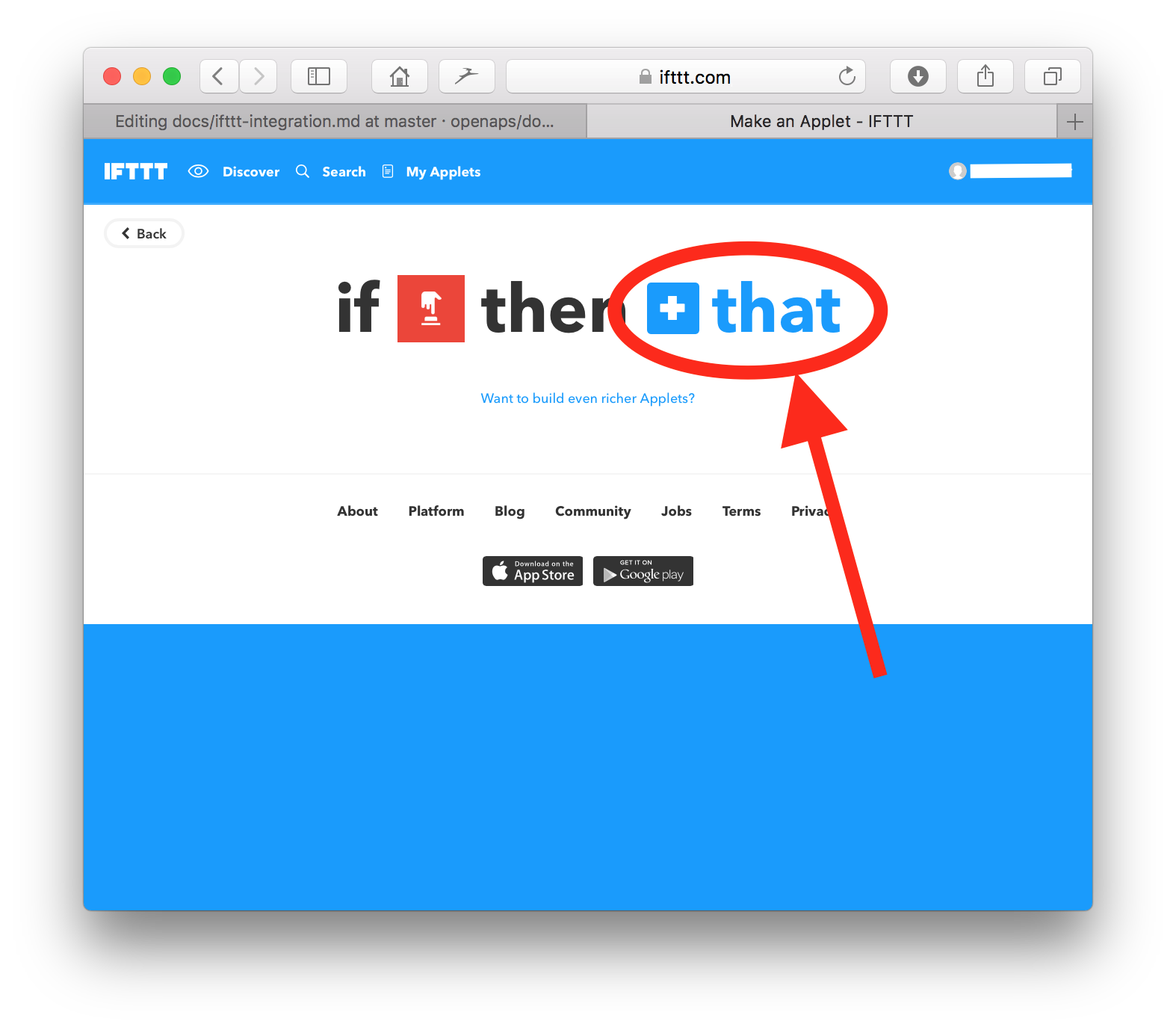IFTTT Integration — OpenAPS 0 0 0 documentation